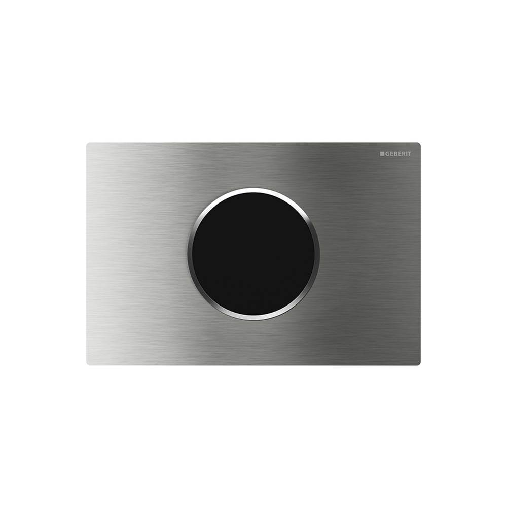 Geberit Geberit WC flush control with electronic flush actuation, mains operation, dual flush, actuator plate Sigma10, automatic/touchless: brushed, polished