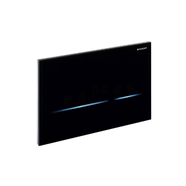Geberit Geberit WC flush control with electronic flush actuation, mains operation, dual flush, actuator plate Sigma80, touchless: glass, reflective