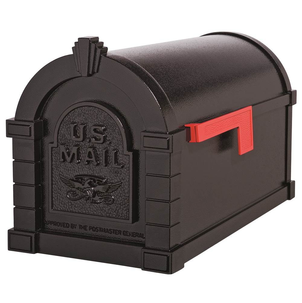 Gaines Manufacturing Eagle Keystone Series® Mailbox All Black w/ Red Flag