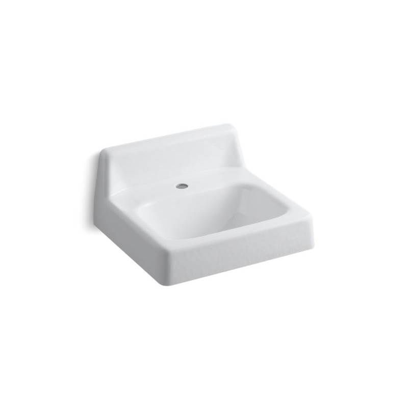Kohler Hudson™ 19'' x 17'' wall-mount bathroom sink with single faucet hole