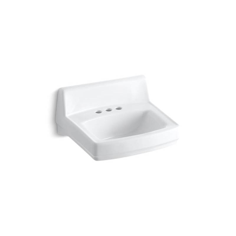 Kohler Greenwich™ 20-3/4'' x 18-1/4'' wall-mount/concealed arm carrier bathroom sink with 4'' centerset faucet holes