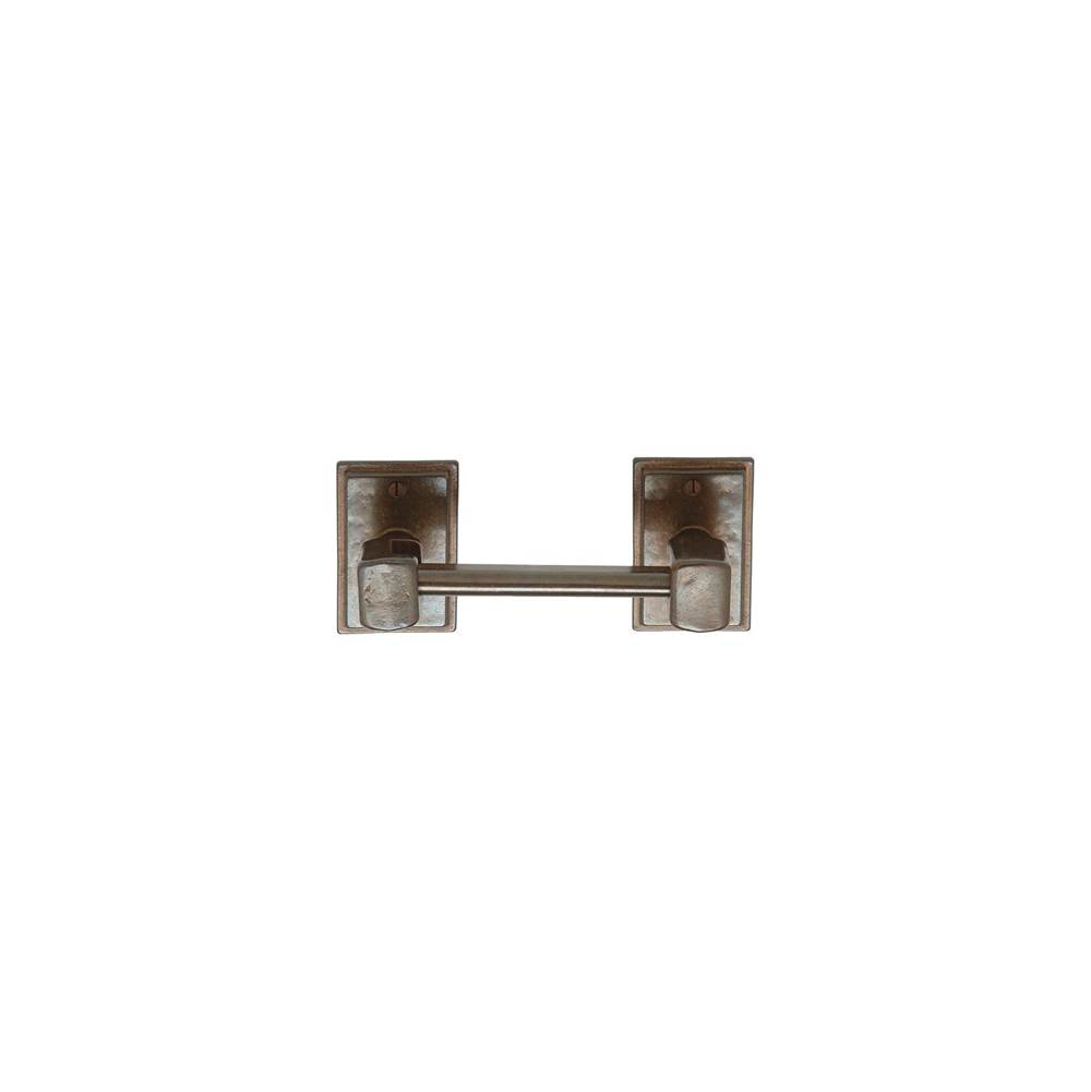 Rocky Mountain Hardware Round Bordeaux Escutcheon Toilet Paper Holder, horizontal, Tempo