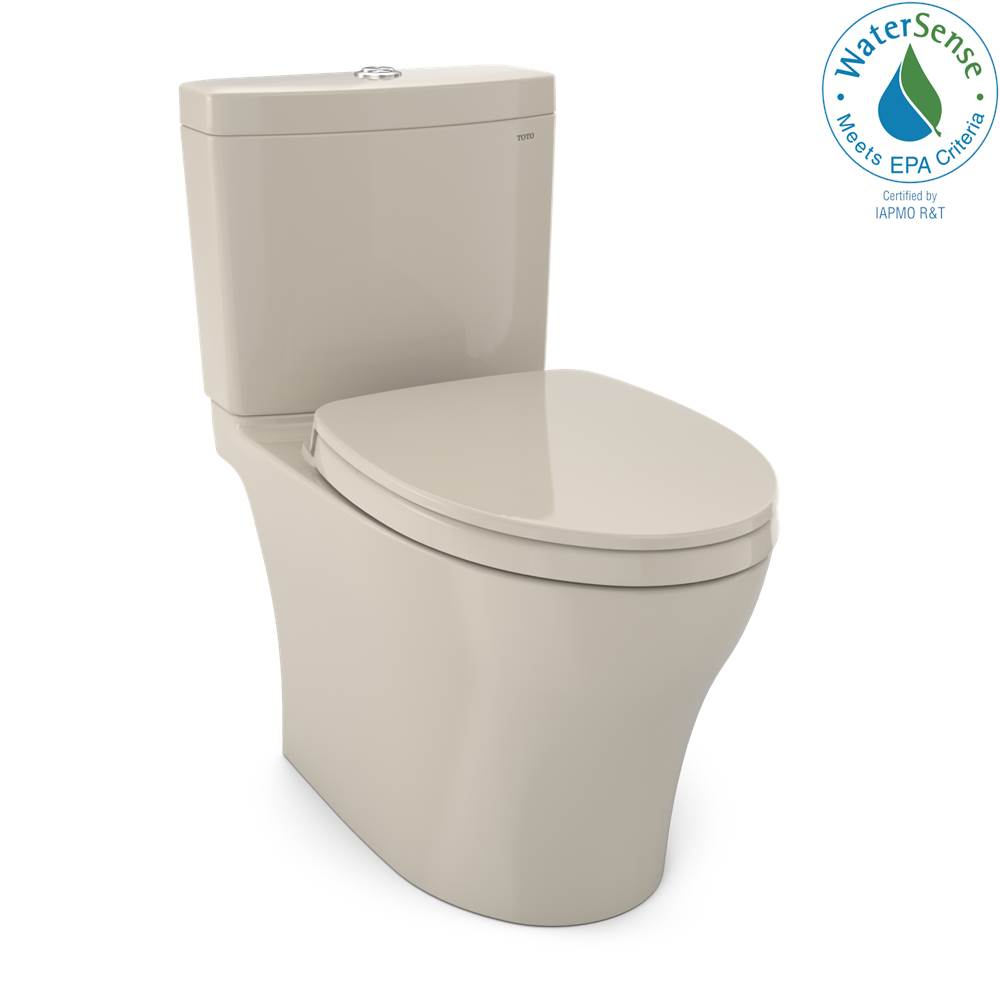 Toto Aquia IV WASHLET+ Two-Piece Elongated Dual Flush 1.28 and 0.8 GPF Toilet with CEFIONTECT, Bone